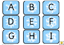 Snowflake Alphabet Mini Cards - Upper Case Letters