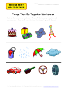 Things That Go Together Kids Activity Worksheet