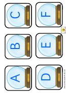 Snowglobe Alphabet Template - Upper Case Letters