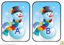 Snowman Alphabet Template - Upper Case Letters