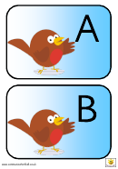 Robin Uc Alphabet Template - Upper Case Letters
