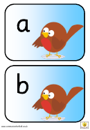 Robin U Alphabet Template - Lower Case Letters