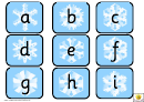 Snowflake Alphabet Template - Lower Case Letters