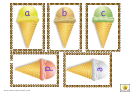 Ice-cream Alphabet Card Template