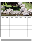 Weekly Calendar With Photo Template