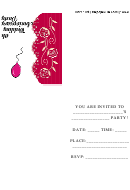 4th Wedding Anniversary Party Invitation Template