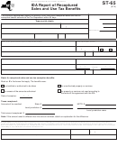 Form St-65 - Ida Report Of Recaptured Sales And Use Tax Benefits