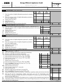 Form 8909 - Energy Efficient Appliance Credit - 2012