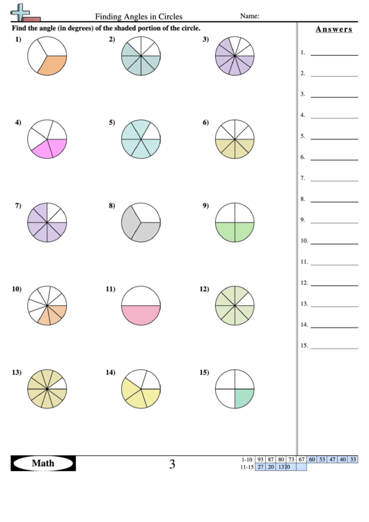 finding angles in circles geometry worksheet with answers printable pdf download. Black Bedroom Furniture Sets. Home Design Ideas