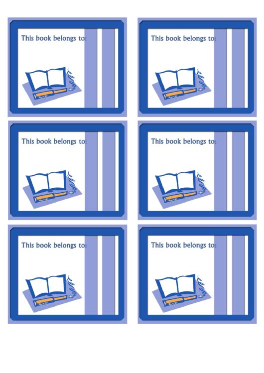 Book And Pen Bookplates