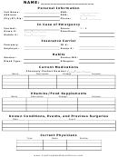 Medical Information Sheet
