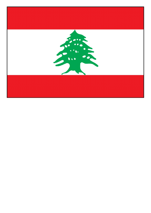 Lebanon Flag Template