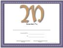 M Monogram Certificate Template