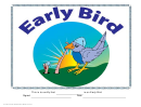 Early Bird Certificate