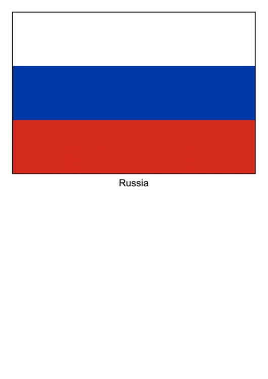 Russia Flag Template