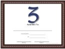 Z Monogram Certificate Template