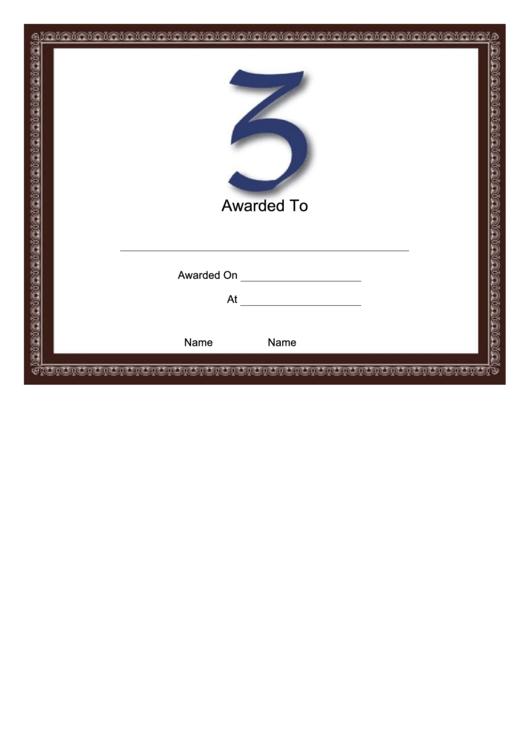 Z Monogram Certificate Template Printable pdf