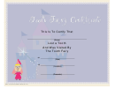 Tooth Fairy Certificate Template (purple) - Lost Tooth