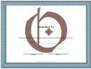 Centered O Monogram Certificate Template