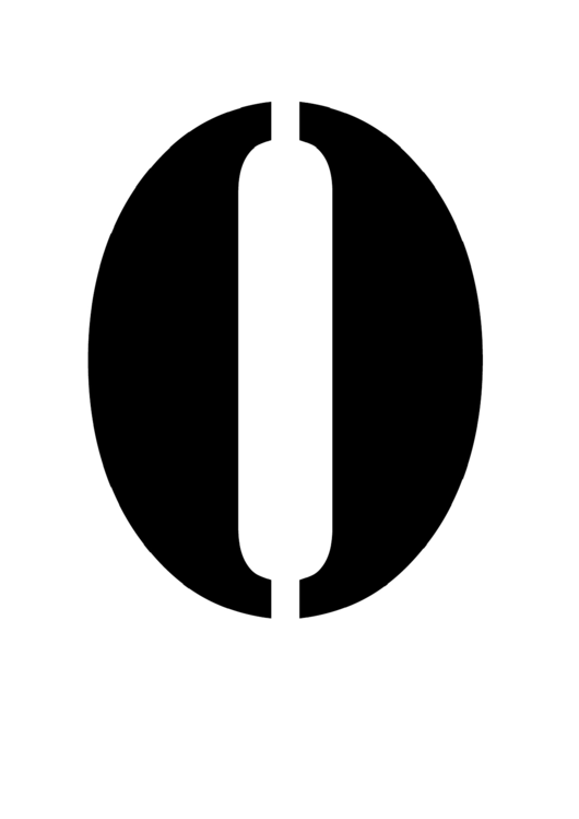 Number 0 Stencil Template Printable pdf