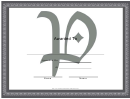 Centered P Monogram Certificate Template