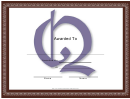 Centered Q Monogram Certificate Template