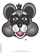 Raccoon Mask Template