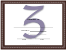 Centered Z Monogram Certificate Template