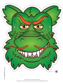 Dragon Chinese Mask Template