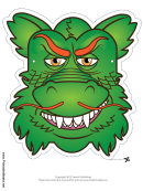 Dragon Asian Mask Template