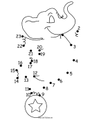 Circus Elephant Dot-to-dot Sheet