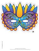 Mardi Gras Festive Mask Template