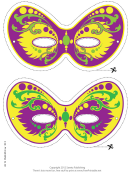 Mardi Gras Ornate Mask Template