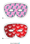 Mardi Gras Simple Mask Template
