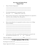 Over-time And Holiday Work Request Form