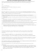 Performance And Staff Development Program Letter Template