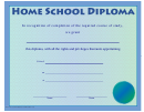 Home School Diploma Certificate Template