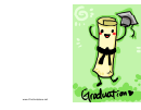 Graduation Party Invitation - Dancing Diploma