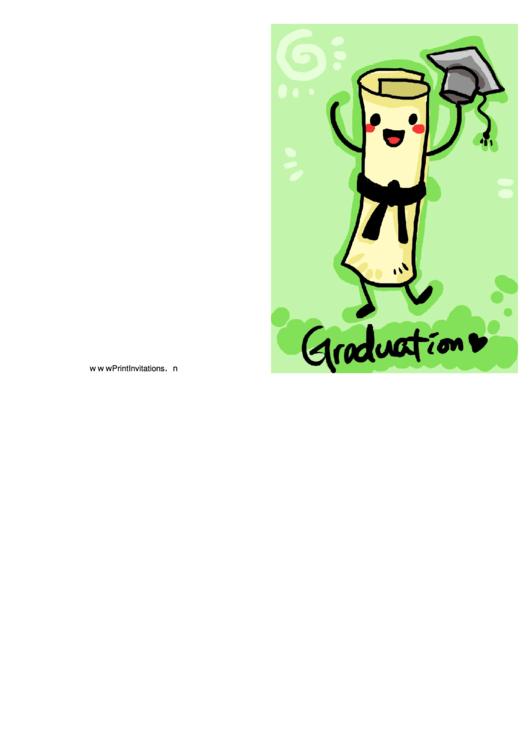 Graduation Party Invitation - Dancing Diploma Printable pdf