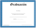 Graduate Certificate Blue