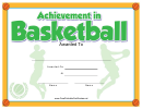 Basketball Certificate