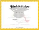 Mortarboard Grade Kindergarten Certificate