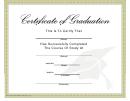 Graduation Certificate Template - Graduate Hat