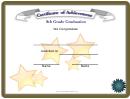 8th Grade Graduation Certificate Template