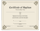Baptism Certificate Template