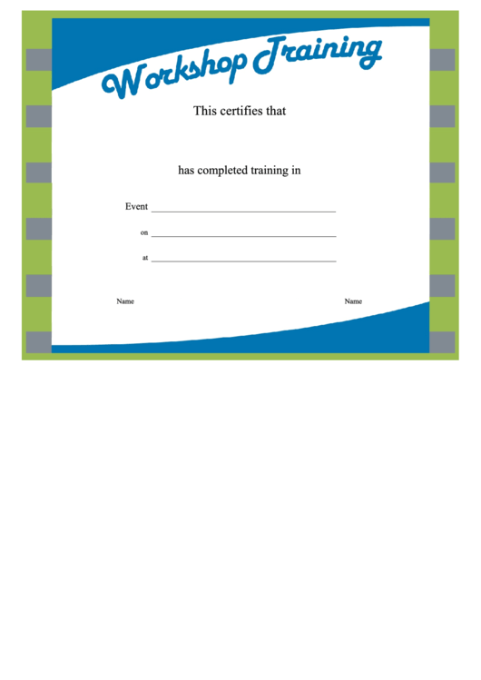 Training Certificate Template Word Format