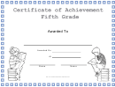 Fifth Grade Achievement Certificate