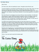 Easter Bunny Letter Template - Teenager