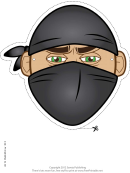 Ninja Bandana Mask Template