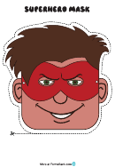 Superhero Male Mask Template